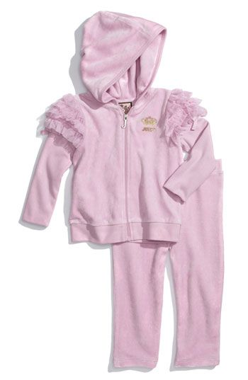 0b414fc2da04 Juicy couture baby tracksuit pink ruffles