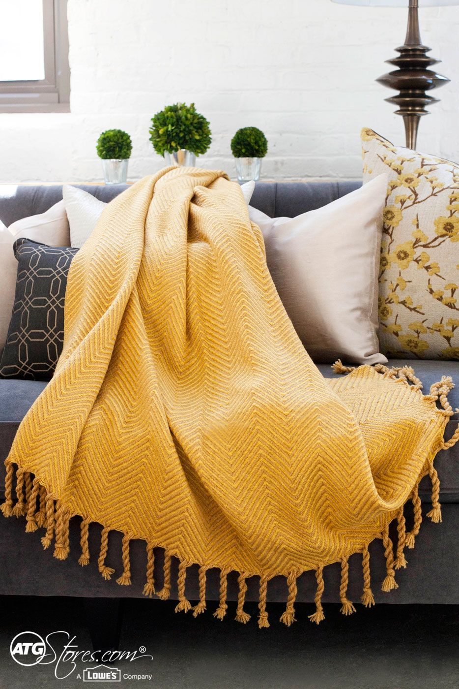 What S On Your Home Wish List This Year We Love This Cozy Throw That Warms Up Your Mood And Body Yellow Blankets Yellow Throw Blanket Yellow Decor