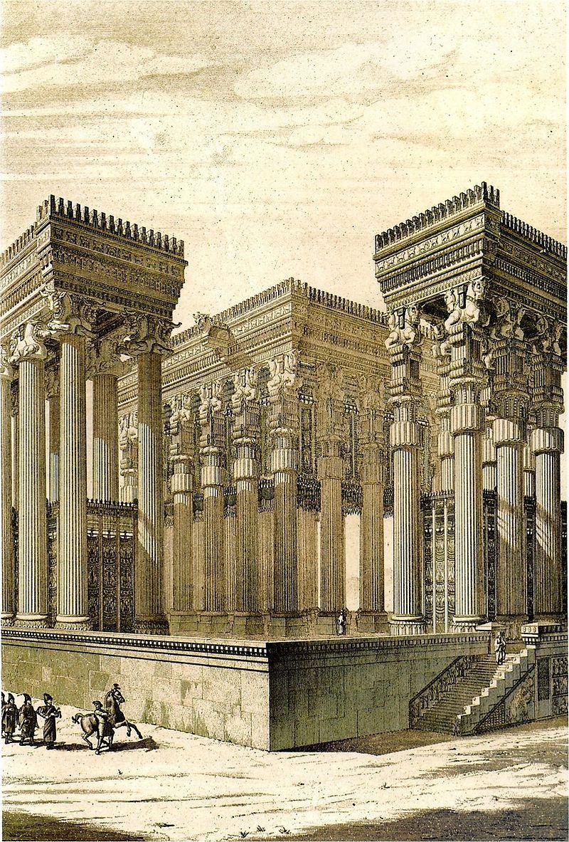 Persepolis Reconstruction Apadana Chipiez Persepolis Wikipedia Persian Architecture Ancient Persia Ancient Architecture