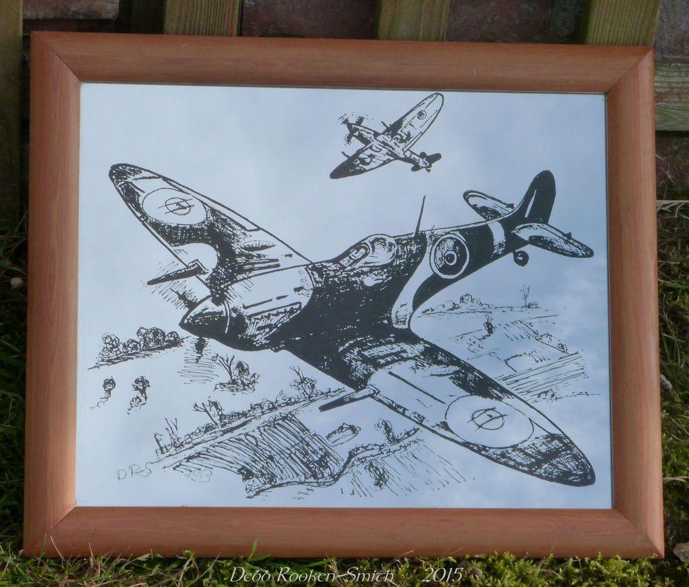 Medium spitfire mirror plane wood frame ww2 stuff to buy medium spitfire mirror plane wood frame ww2 jeuxipadfo Gallery