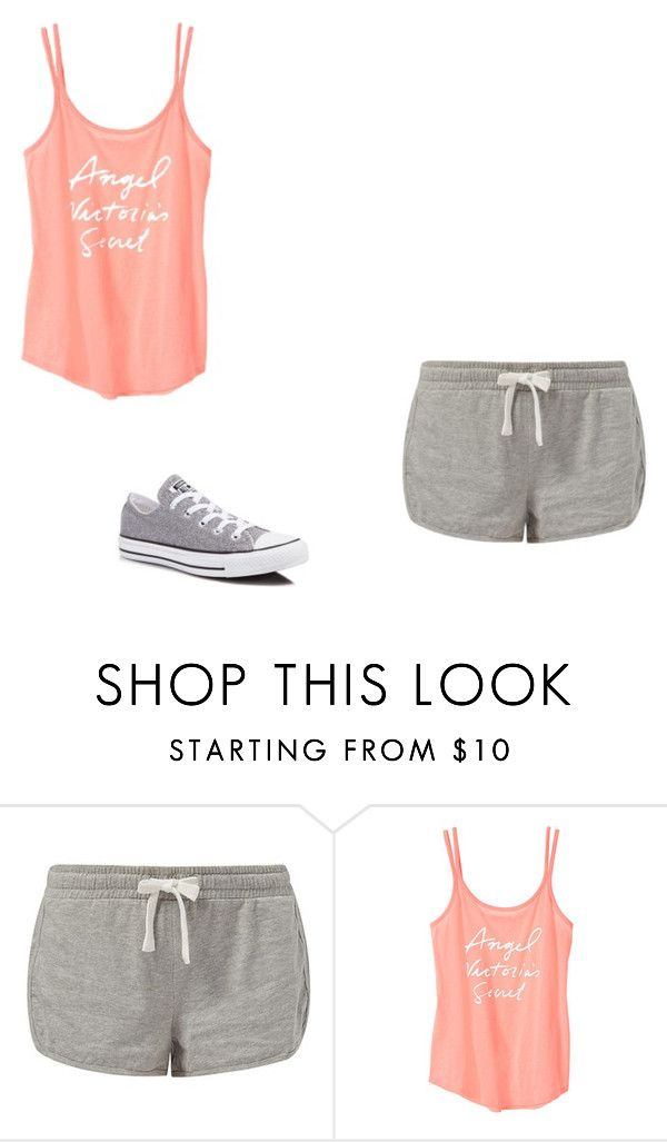 """""""#sportlook907"""" by polly2003-2003 ❤ liked on Polyvore featuring New Look, Victoria's Secret and Converse"""