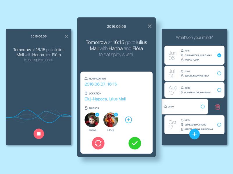 Smart Reminder App App, App design inspiration, App design
