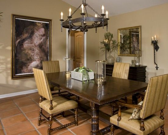 M Roy Interior Design On Houzz Xvii Century Dining Table And Twist Arm Side Chairs From Ebanistacollect Spanish Dining Room Interior Design Dining Design