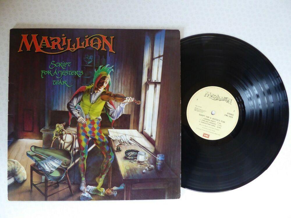 Marillion Script For A Jester S Tear Vinyl Lp In Gatefold Sleeve Emc 3429 A3 B1 Progressiveartrock Vinyl Jester Ebay