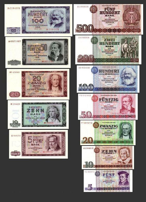 5 10 20 50 100 200 500 Ddr Mark Geldscheine 1964 1971 Alte Wahrung 2 Satze Alte Ddr Wahrung Pick 22 33 Reproduktion Ddr Ddr Geld Ddr Bilder