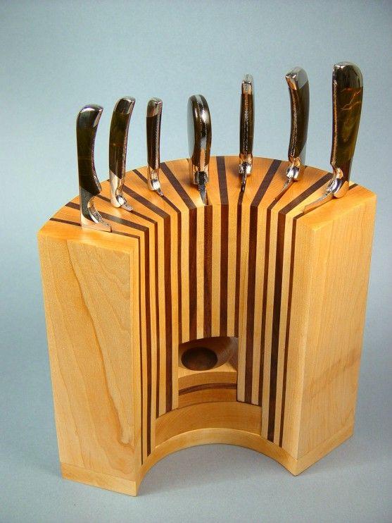 Kitchen Inspiring Wooden Knife Block Design Ideas From