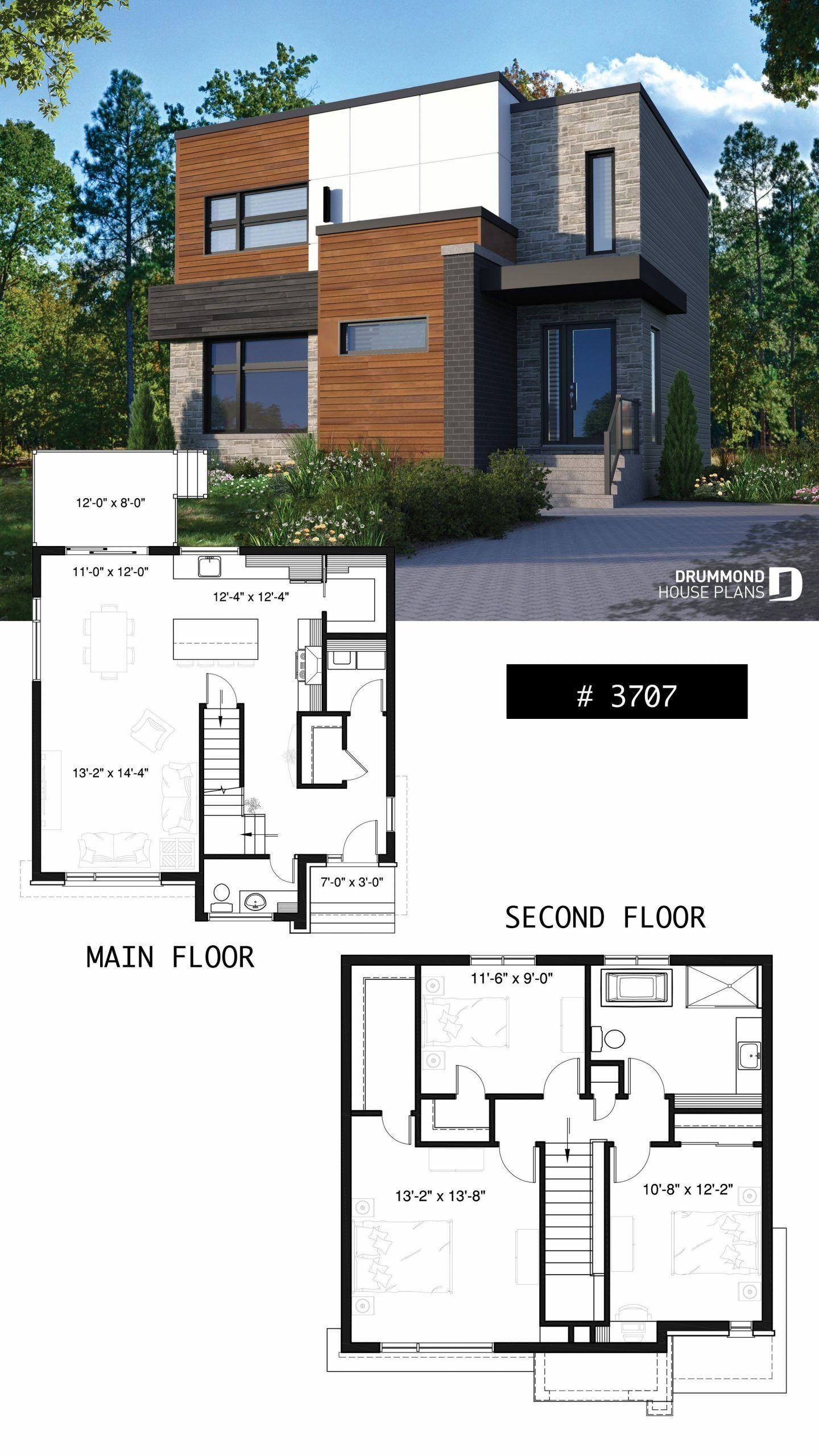 Floor Plans Modern House Designs House Plan Lavoisier No 3707 Contemporary House Plans Modern House Plans House Design Pictures