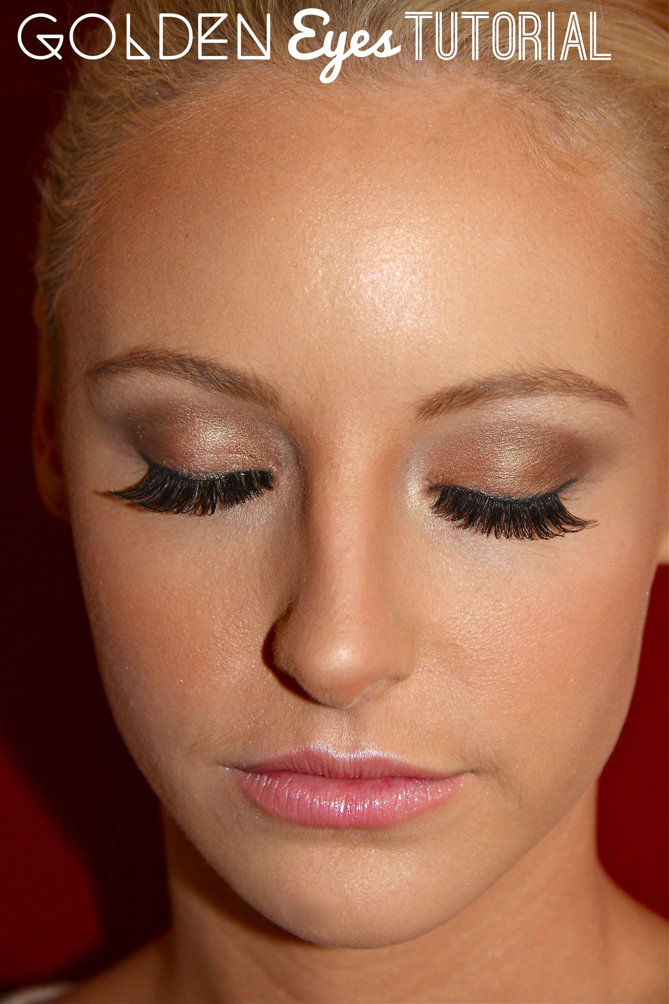 Airbrush makeup Golden Eyes Tutorial