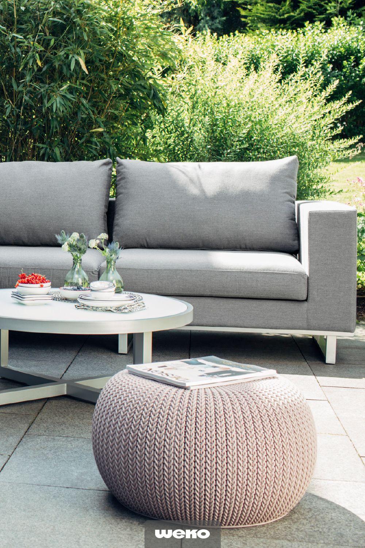 Outdoor Lounge Mit Sunbrella Stoffbezug In Grau Gartenmobel Lounge Gartenmobel Sofa