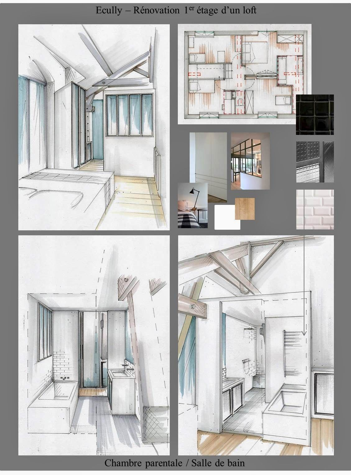 Plan Decoration Interieur Conception Graphique Planches Tendances Plans Perspectives