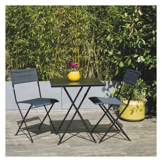 Garden Furniture White Metal grange 2 seat white metal folding garden table and chairs set