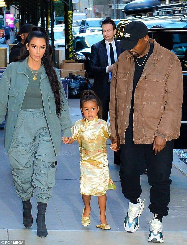 Kanye West And Kim Kardashian Step Out In Style As They Accompany North To Her Fifth Birthday Party At Polo Bar Photos Kanye West And Kim Kanye West Style Kim Kardashian
