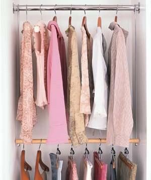 For More Storage Try Adding A Hanging Rod To Your Closet They Don T Require Drill Or Professional