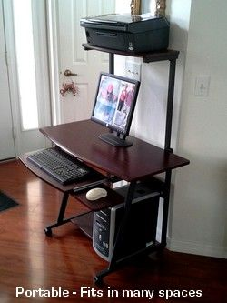 S40 40 Computer Desk With Tower Printer Shelf E