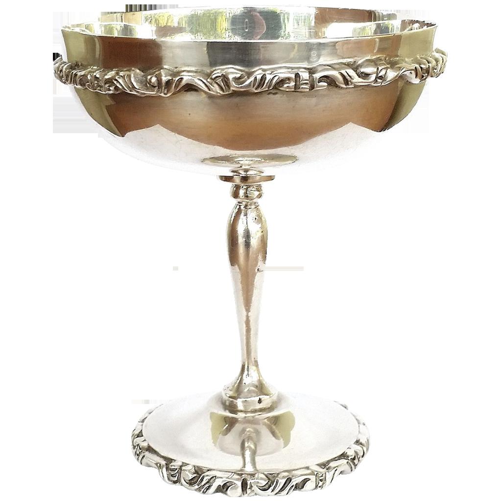 Rare! Garardo Lopez Taxco Chalice Cup Footed 222.4 grams