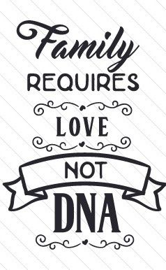 Family requires love, not DNA #adoptionquotes