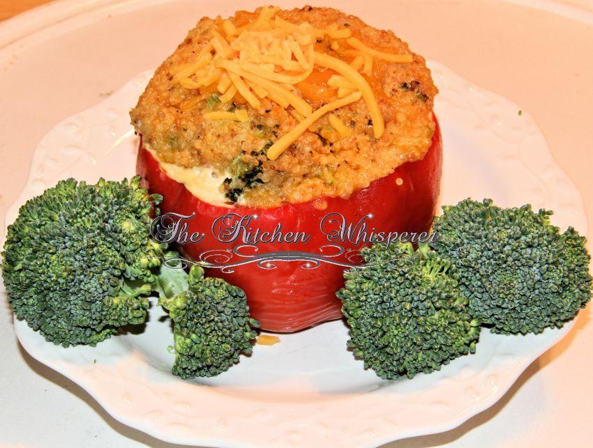 Quinoa Broccoli Cheddar Stuffed Peppers Recipe Stuffed