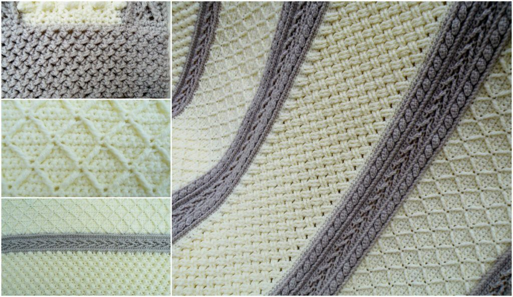 6 Stitches Crochet Aran Throw Free Pattern Crocheted Afghans