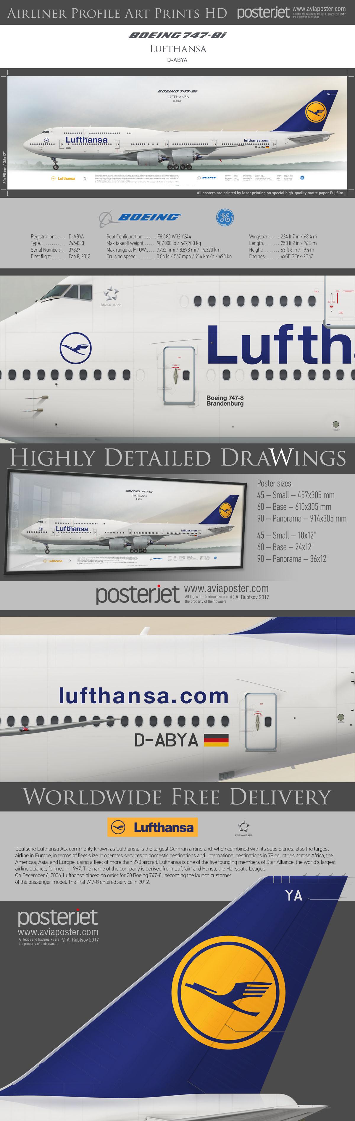 Boeing 747 8i Lufthansa D Abya Www Aviaposter Com Airliners Aviation Jetliner Airplane Pilot Aviatio Boeing Aircraft Cargo Aircraft Aviation Airplane