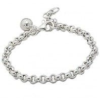 Sterling Silver Baby Bracelet with Sterling Silver Ball Charm.