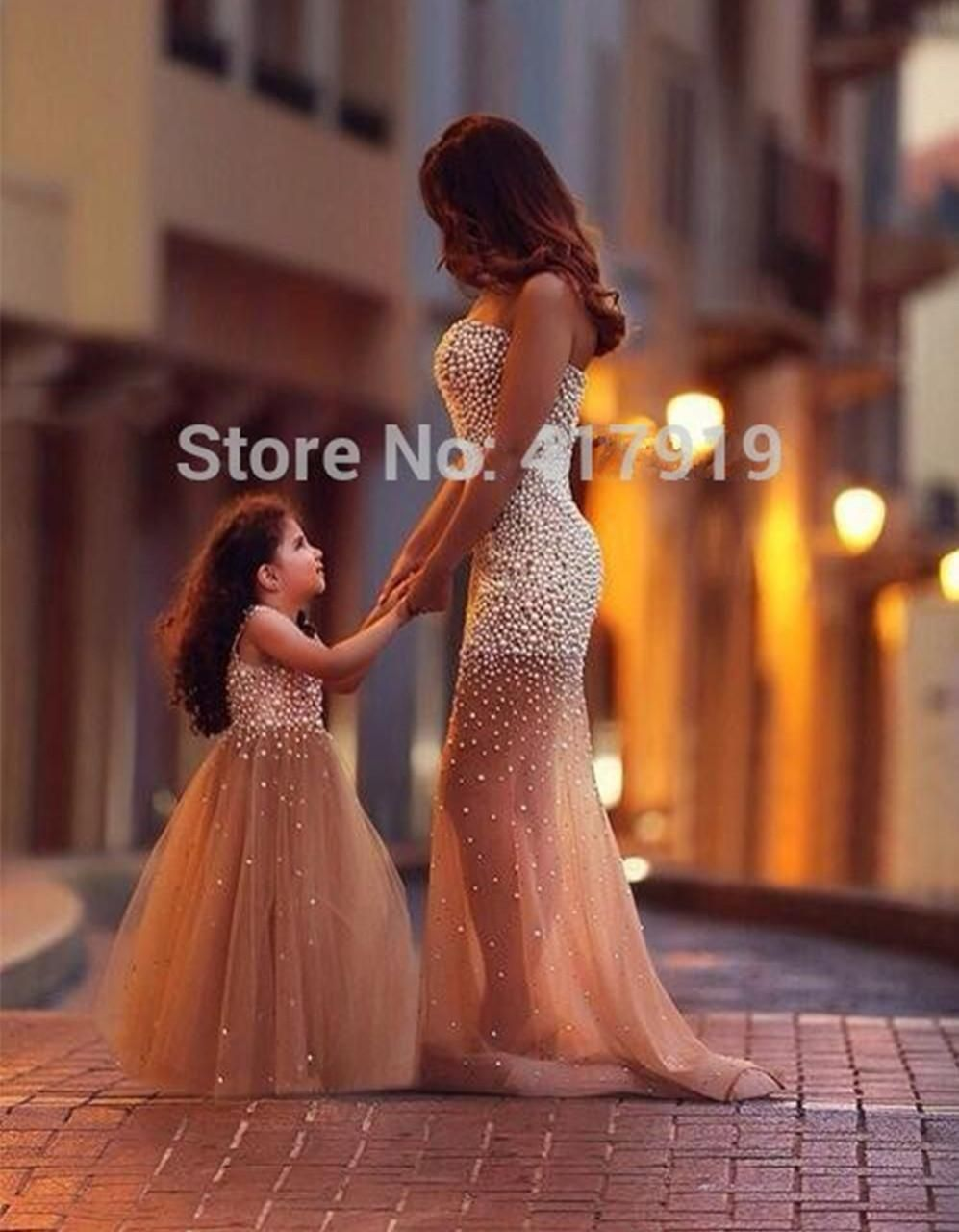 2018 New Ball Gown Flower Girl Dress Beaded Pearls Tulle A Little ...