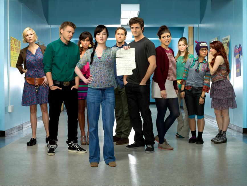 cast photo for MTV 'Awkard.' Season 2. photo credit: MTV/Matthias Clamer
