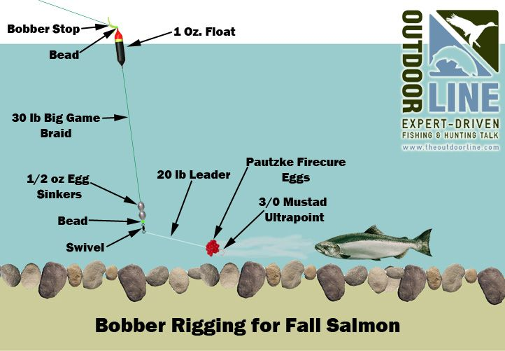 Salmon river fall salmon tackle set up google search for Fly fishing bobber