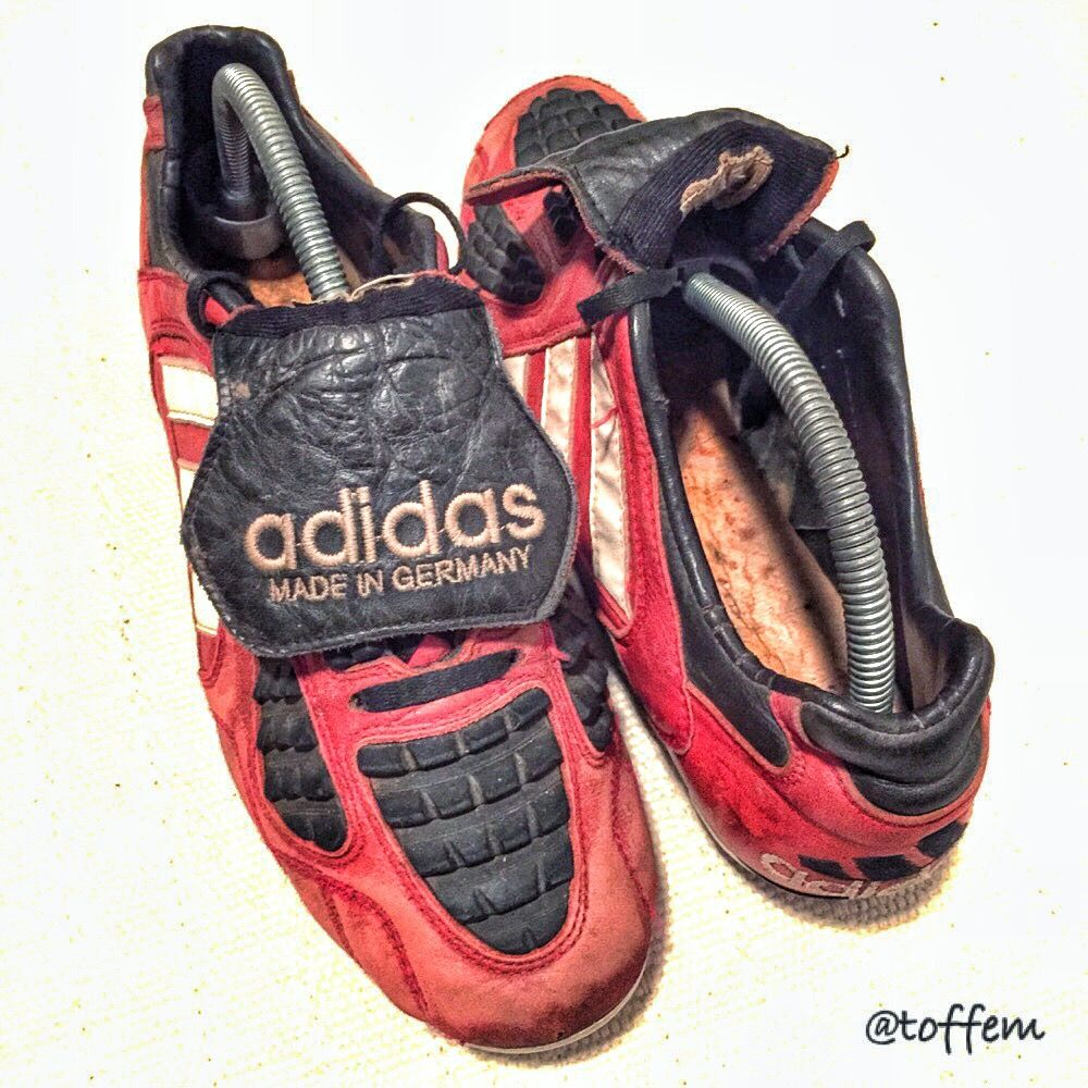 A retro style picture of the 1996 adidas Predator