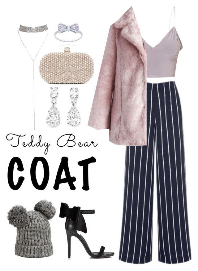 """Teddy Bear Coat"" by indieflowerchild ❤ liked on Polyvore featuring Warehouse, Chicwish, Miss Selfridge, Santi and Karl Lagerfeld"