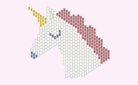licorne - Diagramme en perles miyuki - http://blog.la-petite ...