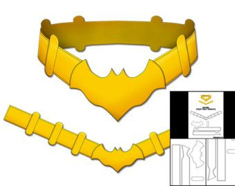 Template for 1966 Batman Utility Belt by TheFoamCave on Etsy