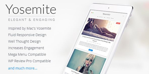Yosemite Inspired by Apple's MAC OSX Design WordPress Theme