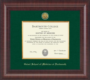 Dartmouth College - Geisel School of Medicine Diploma ...