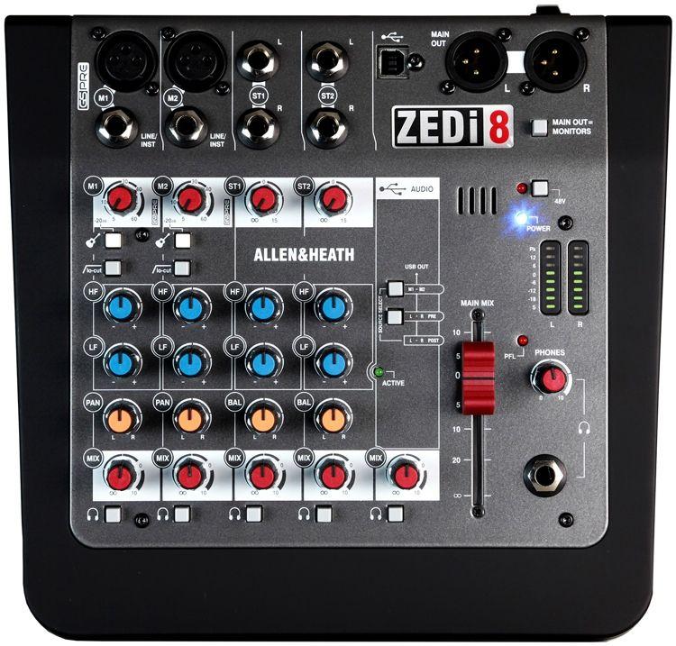 Allen Heath Zedi 8 Mixer With Usb With Images Allen And