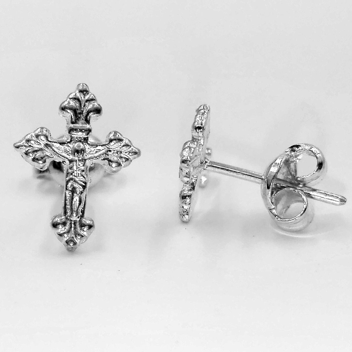 Sterling Silver Cross Earrings Studs Stud Earring