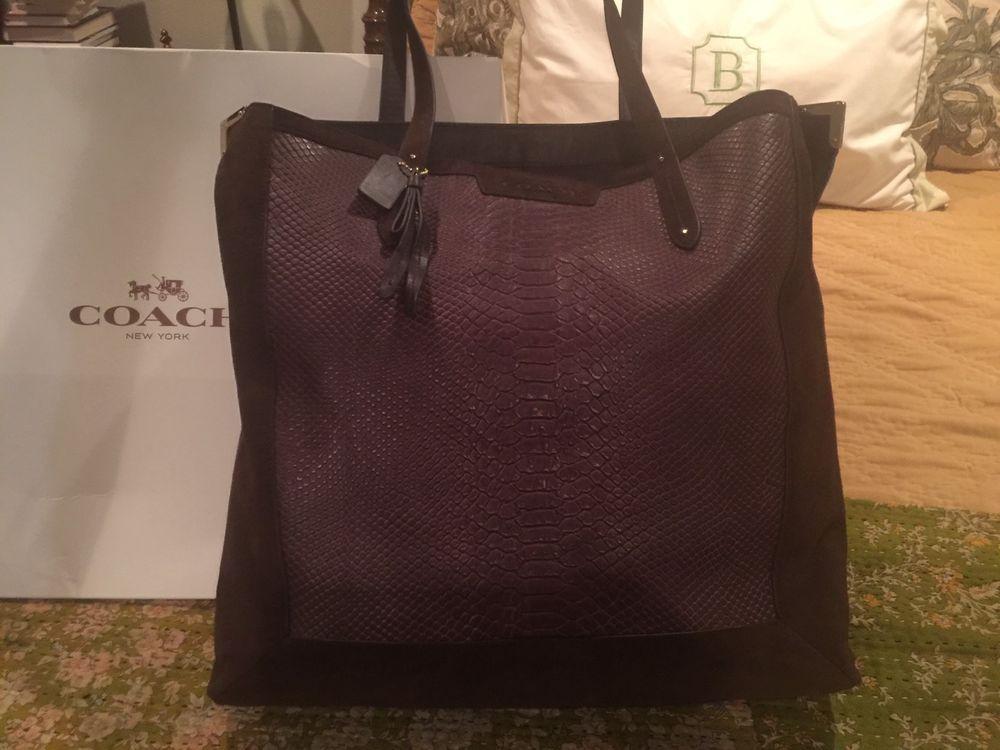 ... shop coach dark brown suede bronze large handbag 0b9c5 51144 ... aa9e351353