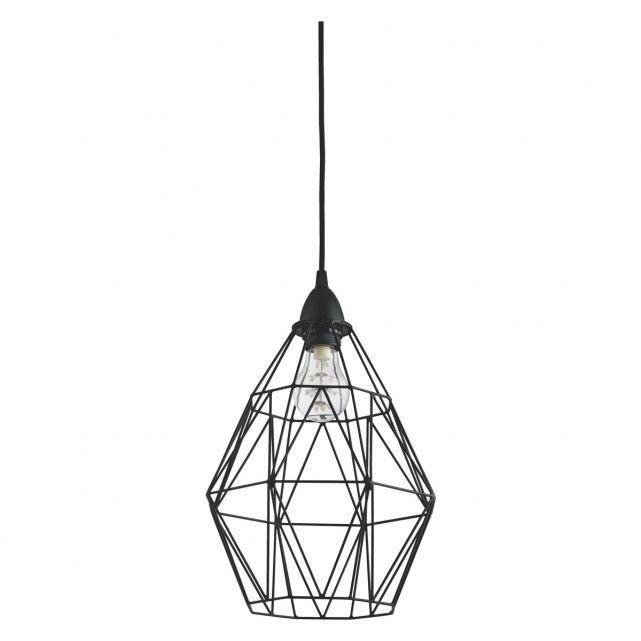 Zelie Black Metal Easy To Fit Ceiling Shade Metal Lamp Shade