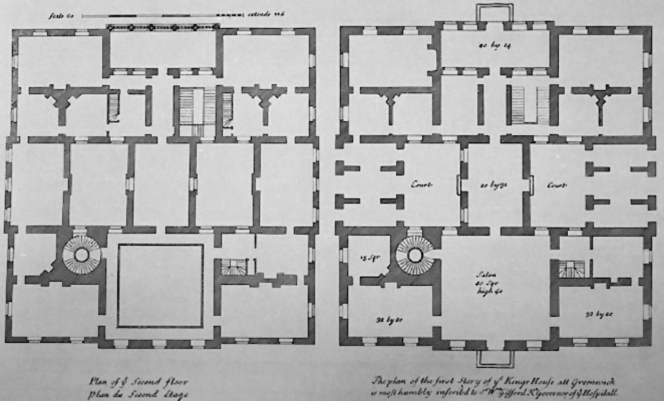 Plan of queens house london by inigo jones
