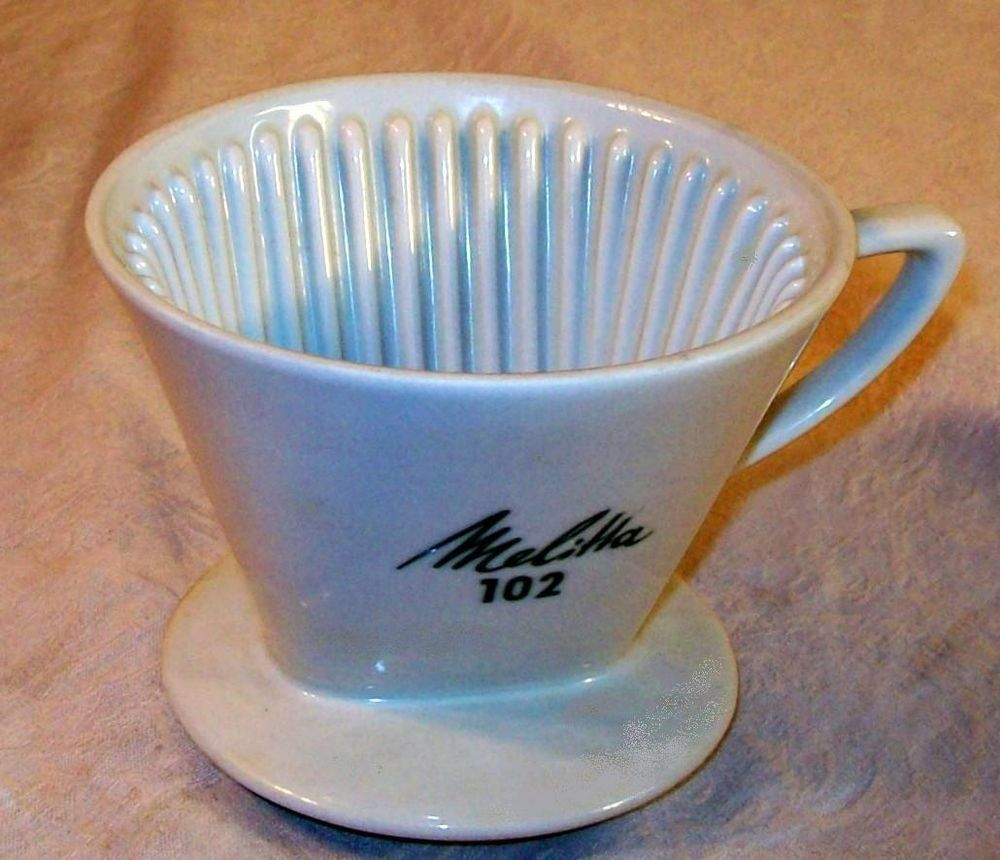 Melitta 102 cone coffee maker drip porcelain 2 filter