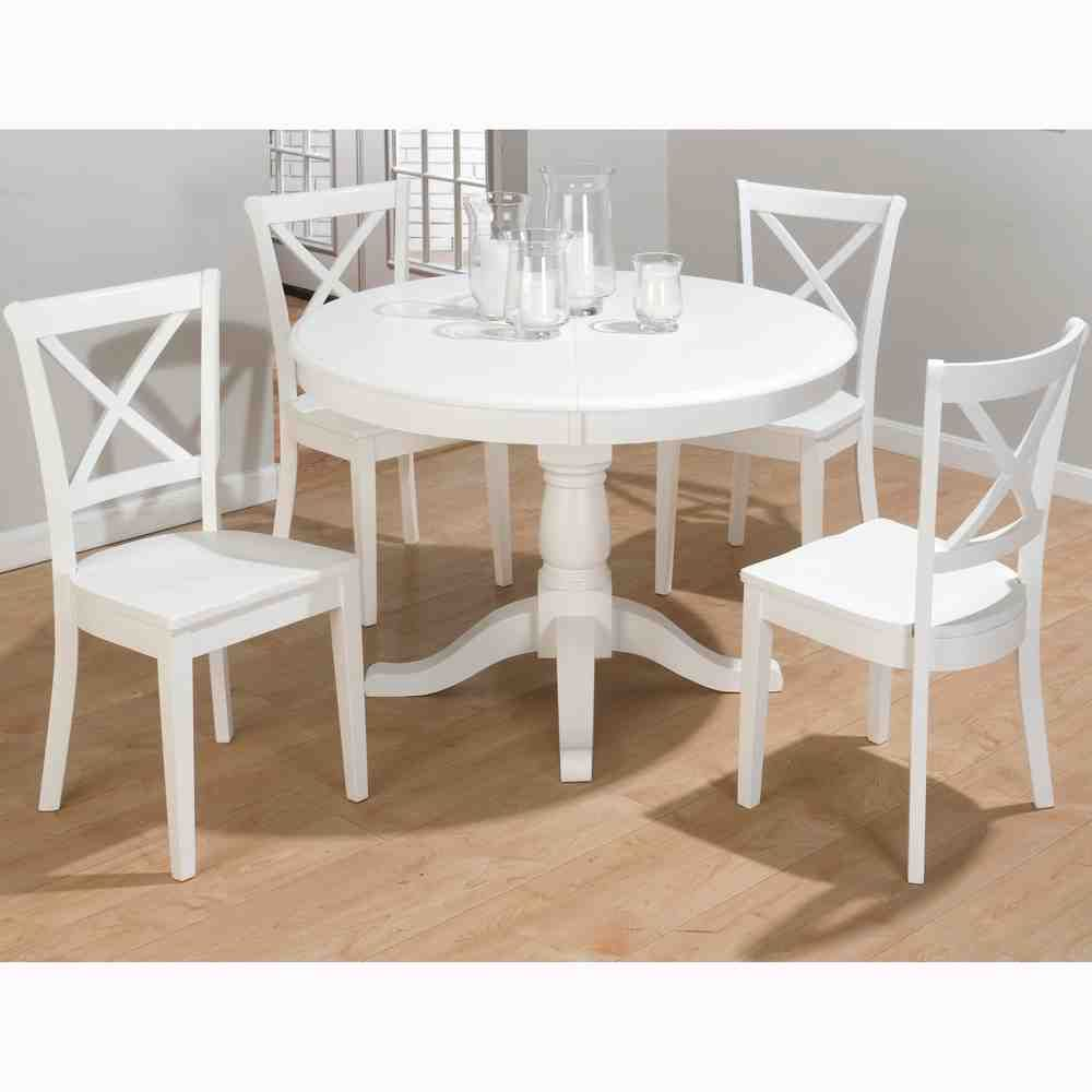 White Round Dining Table And Chairs Round Extendable Dining