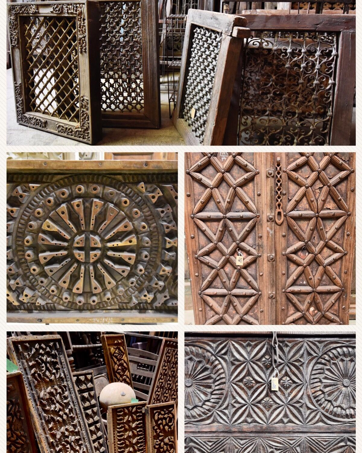 Old wood antique jali windows vintage wooden plaster molds old shutter doors love these wonderful architectural salvage pieces