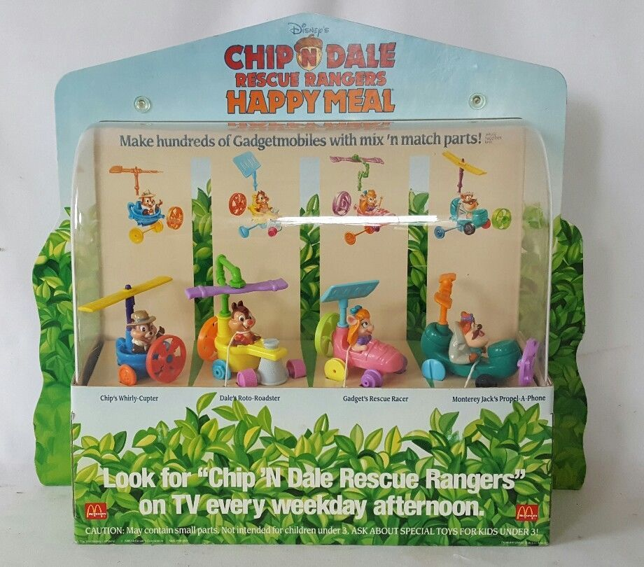Vintage McDonalds Happy Meal Toy Display Disney Chip & Dale Rescue Rangers 1989  | eBay