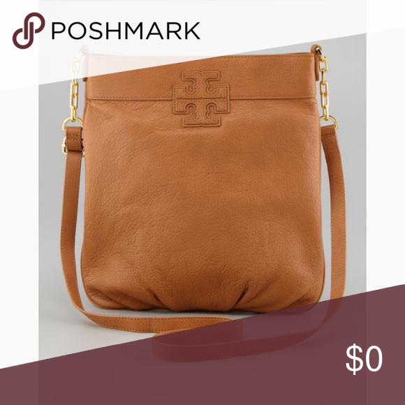 55692fe1df235a Tory crossbody Tory Burch crossbody book bag In brown pebbled leather this  bag is ideal for