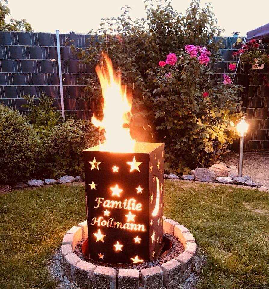 Feuerkorb Mit Wunschmotiv Von Feuerflair Feuerkorb Feuerstelle Garten Feuerschalen Garten