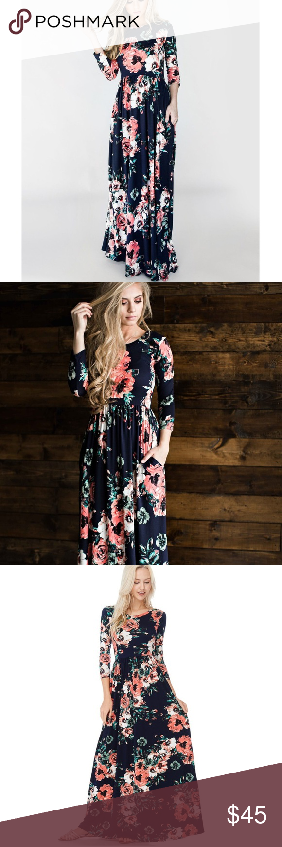 57a61ce8940 NWT Reborn J Watercolor Floral Maxi Dress Size S Genuine Reborn J at a  great price
