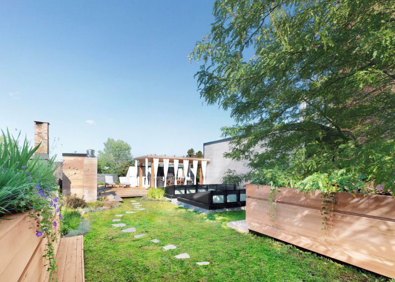 Beautiful Roof Top Garden By Martine Brisson Montreal