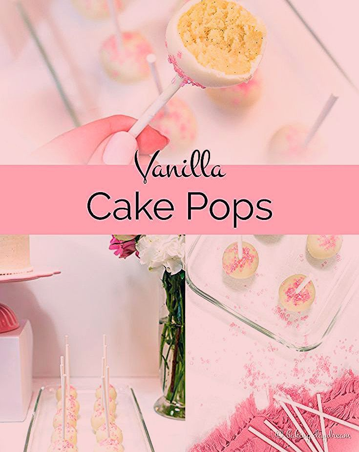Creamy and delicious Vanilla Cake Pops