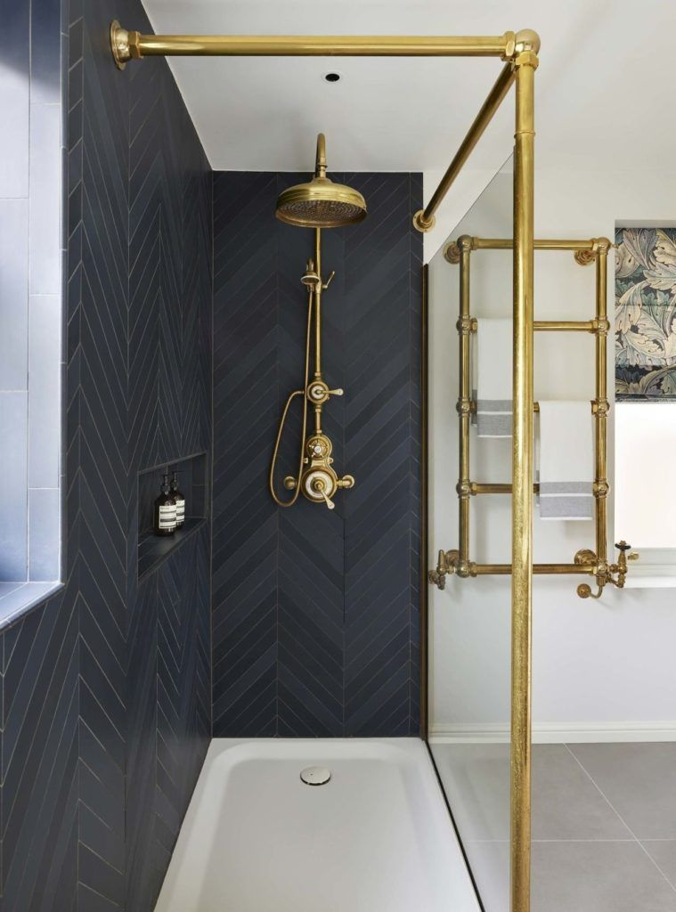 How To Commit To The Chevron Pattern Bathroom Trends Townhouse