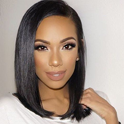 9A Quality Jingleshair cheap Brazilian Human Hair Wigs Brazilian Remy human  hair Lace Front Wigs smooth Straight wholesale for afro women  straightwigs  ... 0f4377abcd