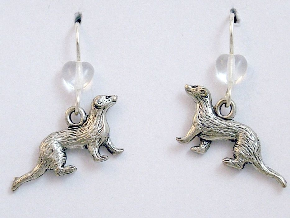 Sterling Silver Ferret Pin by The Magic Zoo